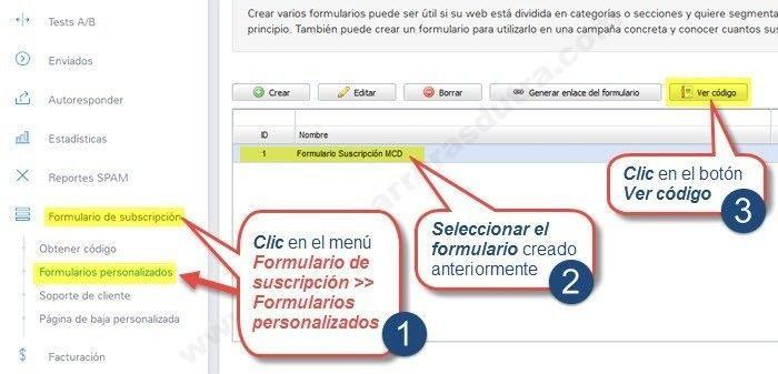 obtener el codigo html en mailrelay