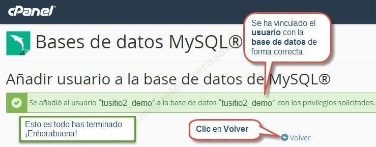 crear base de datos en cpanel