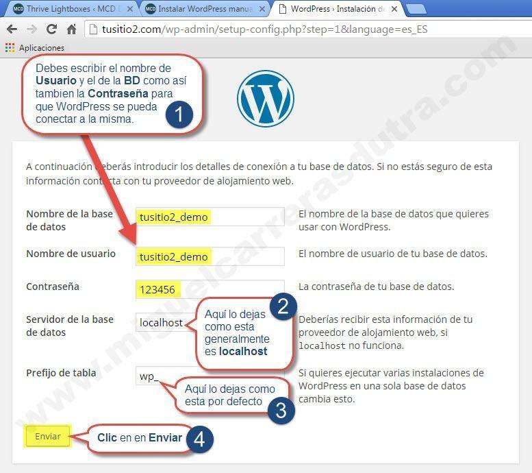 montar wordpress manualmente