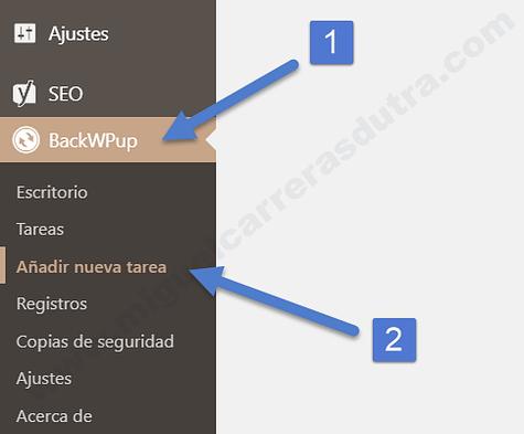 BackWPup crear backup
