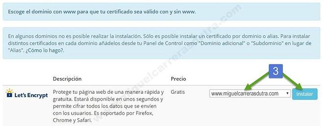 instalación de un certificado ssl gratis para siempre